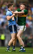 1 September 2019; Dean Rock of Dublin and Jason Foley of Kerry tussle during the GAA Football All-Ireland Senior Championship Final match between Dublin and Kerry at Croke Park in Dublin. Photo by David Fitzgerald/Sportsfile