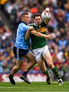 1 September 2019; David Moran of Kerry in action against Con O'Callaghan of Dublin during the GAA Football All-Ireland Senior Championship Final match between Dublin and Kerry at Croke Park in Dublin. Photo by Harry Murphy/Sportsfile