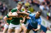 1 September 2019; Gavin Crowley of Kerry in action against Paul Mannion of Dublin during the GAA Football All-Ireland Senior Championship Final match between Dublin and Kerry at Croke Park in Dublin. Photo by Ramsey Cardy/Sportsfile
