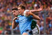 1 September 2019; Michael Fitzsimons of Dublin in action against Paul Geaney of Kerry during the GAA Football All-Ireland Senior Championship Final match between Dublin and Kerry at Croke Park in Dublin. Photo by Stephen McCarthy/Sportsfile