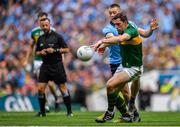 1 September 2019; Con O'Callaghan of Dublin in action against David Moran of Kerry during the GAA Football All-Ireland Senior Championship Final match between Dublin and Kerry at Croke Park in Dublin. Photo by Brendan Moran/Sportsfile