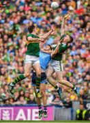 1 September 2019; Dean Rock of Dublin in action against David Moran, left, and Jason Foley of Kerry during the GAA Football All-Ireland Senior Championship Final match between Dublin and Kerry at Croke Park in Dublin. Photo by Brendan Moran/Sportsfile