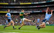 1 September 2019; Killian Spillane of Kerry shoots to score his side's first goal during the GAA Football All-Ireland Senior Championship Final match between Dublin and Kerry at Croke Park in Dublin. Photo by Seb Daly/Sportsfile