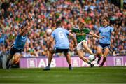 1 September 2019; Killian Spillane of Kerry scores his side's first goal despite the efforts of Brian Howard of Dublin during the GAA Football All-Ireland Senior Championship Final match between Dublin and Kerry at Croke Park in Dublin. Photo by Eóin Noonan/Sportsfile