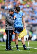 1 September 2019; Dublin manager Jim Gavin speaks with Diarmuid Connolly of Dublin during the GAA Football All-Ireland Senior Championship Final match between Dublin and Kerry at Croke Park in Dublin. Photo by Harry Murphy/Sportsfile