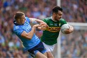 1 September 2019; Jack Sherwood of Kerry is tackled by Paul Mannion of Dublin during the GAA Football All-Ireland Senior Championship Final match between Dublin and Kerry at Croke Park in Dublin. Photo by Ramsey Cardy/Sportsfile