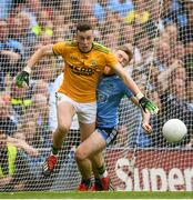 1 September 2019; Shane Ryan of Kerry collides with John Small of Dublin during the GAA Football All-Ireland Senior Championship Final match between Dublin and Kerry at Croke Park in Dublin. Photo by Ramsey Cardy/Sportsfile