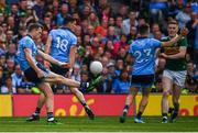 1 September 2019; Dean Rock of Dublin kicks his side's sixteenth point during the GAA Football All-Ireland Senior Championship Final match between Dublin and Kerry at Croke Park in Dublin. Photo by Stephen McCarthy/Sportsfile