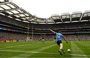 1 September 2019; Dean Rock of Dublin kicks a last minute free during the GAA Football All-Ireland Senior Championship Final match between Dublin and Kerry at Croke Park in Dublin. Photo by Ramsey Cardy/Sportsfile
