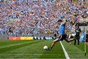 1 September 2019; Dean Rock of Dublin takes a free in injury-time of the second half, which he kicked wide, during the GAA Football All-Ireland Senior Championship Final match between Dublin and Kerry at Croke Park in Dublin. Photo by Piaras Ó Mídheach/Sportsfile
