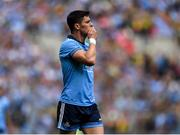 1 September 2019; Diarmuid Connolly of Dublin reacts following the final whistle at the GAA Football All-Ireland Senior Championship Final match between Dublin and Kerry at Croke Park in Dublin. Photo by Harry Murphy/Sportsfile