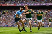 1 September 2019; Diarmuid Connolly of Dublin is tackled by Tommy Walsh of Kerry during the GAA Football All-Ireland Senior Championship Final match between Dublin and Kerry at Croke Park in Dublin. Photo by Ramsey Cardy/Sportsfile