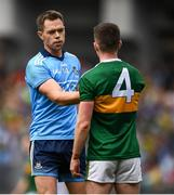 1 September 2019; Dean Rock of Dublin shakes hands with Tom O'Sullivan of Kerry following the GAA Football All-Ireland Senior Championship Final match between Dublin and Kerry at Croke Park in Dublin. Photo by David Fitzgerald/Sportsfile