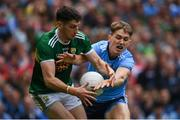 1 September 2019; Paul Geaney of Kerry is tackled by Michael Fitzsimons of Dublin during the GAA Football All-Ireland Senior Championship Final match between Dublin and Kerry at Croke Park in Dublin. Photo by Ramsey Cardy/Sportsfile