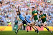 1 September 2019; Dean Rock of Dublin in action against Jason Foley of Kerry during the GAA Football All-Ireland Senior Championship Final match between Dublin and Kerry at Croke Park in Dublin. Photo by Harry Murphy/Sportsfile