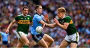 1 September 2019; Brian Fenton of Dublin in action against Tommy Walsh of Kerry and his team mate David Moran during the GAA Football All-Ireland Senior Championship Final match between Dublin and Kerry at Croke Park in Dublin. Photo by Ray McManus/Sportsfile