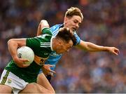 1 September 2019; David Clifford of Kerry in action against Michael Fitzsimons of Dublin during the GAA Football All-Ireland Senior Championship Final match between Dublin and Kerry at Croke Park in Dublin. Photo by Ray McManus/Sportsfile