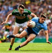 1 September 2019; Brian Howard of Dublin in action against David Clifford of Kerry during the GAA Football All-Ireland Senior Championship Final match between Dublin and Kerry at Croke Park in Dublin. Photo by Ray McManus/Sportsfile