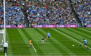 1 September 2019; Jack McCaffrey of Dublin scores his side's first goal past Kerry goalkeeper Shane Ryan during the GAA Football All-Ireland Senior Championship Final match between Dublin and Kerry at Croke Park in Dublin. Photo by Stephen McCarthy/Sportsfile