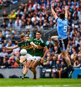 1 September 2019; Jack McCaffrey of Dublin attempts to block a shot by Gavin Crowley of Kerry during the GAA Football All-Ireland Senior Championship Final match between Dublin and Kerry at Croke Park in Dublin. Photo by Ray McManus/Sportsfile