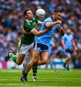 1 September 2019; James McCarthy of Dublin is action against David Moran of Kerry during the GAA Football All-Ireland Senior Championship Final match between Dublin and Kerry at Croke Park in Dublin. Photo by Ray McManus/Sportsfile