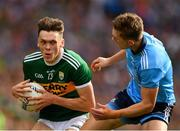 1 September 2019; David Clifford of Kerry in action against Michael Fitzsimons of Dublin during the GAA Football All-Ireland Senior Championship Final match between Dublin and Kerry at Croke Park in Dublin. Photo by Seb Daly/Sportsfile