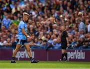 1 September 2019; Jonny Cooper of Dublin leaves the field after being shown a red card during the GAA Football All-Ireland Senior Championship Final match between Dublin and Kerry at Croke Park in Dublin. Photo by Seb Daly/Sportsfile