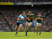 1 September 2019; Con O'Callaghan of Dublin in action against Jason Foley of Kerry during the GAA Football All-Ireland Senior Championship Final match between Dublin and Kerry at Croke Park in Dublin. Photo by Seb Daly/Sportsfile