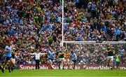 1 September 2019; Umpire Dean Gough indicates a late free kick, by Dean Rock of Dublin, had gone wide during the GAA Football All-Ireland Senior Championship Final match between Dublin and Kerry at Croke Park in Dublin. Photo by Ray McManus/Sportsfile