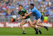 1 September 2019; Killian Spillane of Kerry is tackled by Brian Fenton of Dublin the GAA Football All-Ireland Senior Championship Final match between Dublin and Kerry at Croke Park in Dublin. Photo by Brendan Moran/Sportsfile