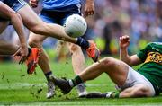 1 September 2019; A detailed view of Gavin Crowley of Kerry, right, fouling Paddy Small of Dublin during the GAA Football All-Ireland Senior Championship Final match between Dublin and Kerry at Croke Park in Dublin. Photo by Piaras Ó Mídheach/Sportsfile