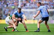 1 September 2019; Stephen O'Brien of Kerry in action against Paddy Small, left, and Ciarán Kilkenny of Dublin during the GAA Football All-Ireland Senior Championship Final match between Dublin and Kerry at Croke Park in Dublin. Photo by Piaras Ó Mídheach/Sportsfile