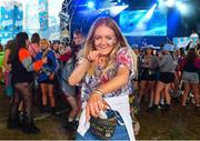 1 September 2019; Festival-goer Aoife McKenna from Dingle, Co. Kerry, in attendance at the Electric Ireland Throwback Stage during day three of Electric Picnic 2019 at Stradbally in Laois. Smash Hits deliver a smashing performance at Electric Ireland's Throwback Stage. It's 90s time at Electric Ireland's Throwback Stage as Smash Hits bring a smooth mix of nostalgic numbers to Stradbally. Closing out a weekend of throwback fun at Electric Ireland's Throwback Stage – Smash Hits pave the way for the final headline act, N-Trance. This year, Electric Ireland's Throwback Stage hosts a line-up of legends including headliners Bonnie Tyler, N-Trance, Mr. Motivator and Lords of Strut. One of the most popular stages at the festival, Electric Ireland's Throwback Stage has previously played host to pop legends B*witched, Johnny Logan, Heather Small, 5ive, S Club Party, Ace of Base, 2 Unlimited, The Vengaboys and Bananarama – to name a few. Share in the nostalgia of the Electric Ireland Throwback Stage, visit: www.twitter.com/ElectricIreland, www.facebook.com/ElectricIreland, www.instagram.com/ElectricIreland.  #ThrowbackThrowdown. Photo by Sam Barnes/Sportsfile