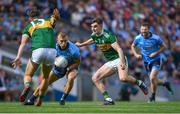1 September 2019; Jonny Cooper of Dublin in action against David Clifford, left, and Seán O'Shea of Kerry during the GAA Football All-Ireland Senior Championship Final match between Dublin and Kerry at Croke Park in Dublin. Photo by Piaras Ó Mídheach/Sportsfile