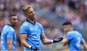 1 September 2019; Jonny Cooper of Dublin remonstrates with referee David Gough before being shown his first yellow card for a foul on David Clifford of Kerry during the GAA Football All-Ireland Senior Championship Final match between Dublin and Kerry at Croke Park in Dublin. Photo by Piaras Ó Mídheach/Sportsfile