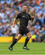 1 September 2019; Referee David Gough during the GAA Football All-Ireland Senior Championship Final match between Dublin and Kerry at Croke Park in Dublin. Photo by Eóin Noonan/Sportsfile