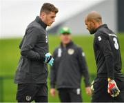 2 September 2019; Mark Travers, left, and Darren Randolph, right, during a Republic of Ireland training session at the FAI National Training Centre in Abbotstown, Dublin. Photo by Seb Daly/Sportsfile