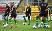 2 September 2019; Amber Barrett, centre, during a Republic of Ireland WNT training session at Tallaght Stadium in Tallaght, Dublin. Photo by Piaras Ó Mídheach/Sportsfile