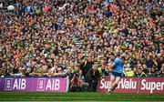 1 September 2019; Dean Rock of Dublin kicks a last minute free during the GAA Football All-Ireland Senior Championship Final match between Dublin and Kerry at Croke Park in Dublin. Photo by David Fitzgerald/Sportsfile