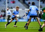 1 September 2019; Pearse McDonald, St. Teresa's PS, Loughmacrory, Omagh, Tyrone, representing Dublin, during the INTO Cumann na mBunscol GAA Respect Exhibition Go Games at the GAA Football All-Ireland Senior Championship Final match between Dublin and Kerry at Croke Park in Dublin. Photo by Ray McManus/Sportsfile