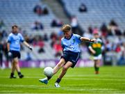 1 September 2019; Jamie Coakley, Bishop Foley NS, Station Rd, Carlow, representing Dublin, during the INTO Cumann na mBunscol GAA Respect Exhibition Go Games at the GAA Football All-Ireland Senior Championship Final match between Dublin and Kerry at Croke Park in Dublin. Photo by Ray McManus/Sportsfile