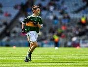 1 September 2019; Diarmuid McMahon, Lissycasey NS, Ennis, Clare, representing Kerry, during the INTO Cumann na mBunscol GAA Respect Exhibition Go Games at the GAA Football All-Ireland Senior Championship Final match between Dublin and Kerry at Croke Park in Dublin. Photo by Ray McManus/Sportsfile