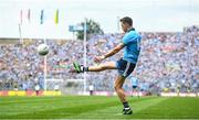 1 September 2019; Dean Rock of Dublin kicks a free during the GAA Football All-Ireland Senior Championship Final match between Dublin and Kerry at Croke Park in Dublin. Photo by David Fitzgerald/Sportsfile