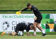 3 September 2019; James McClean, left, and Seamus Coleman during a Republic of Ireland training session at FAI National Training Centre in Abbotstown, Dublin. Photo by Stephen McCarthy/Sportsfile