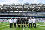 1 September 2019; Referee Noel Mooney with his officials before the Electric Ireland GAA Football All-Ireland Minor Championship Final match between Cork and Galway at Croke Park in Dublin. Photo by Piaras Ó Mídheach/Sportsfile