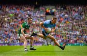 1 September 2019; Con O'Callaghan of Dublin in action against Tom O'Sullivan of Kerry during the GAA Football All-Ireland Senior Championship Final match between Dublin and Kerry at Croke Park in Dublin. Photo by Ramsey Cardy/Sportsfile