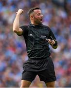 1 September 2019; Referee David Gough during the GAA Football All-Ireland Senior Championship Final match between Dublin and Kerry at Croke Park in Dublin. Photo by Ramsey Cardy/Sportsfile