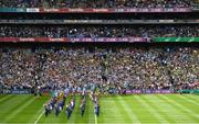 1 September 2019; The Artane Band lead both teams in the pre-match parade ahead of the GAA Football All-Ireland Senior Championship Final match between Dublin and Kerry at Croke Park in Dublin. Photo by Ramsey Cardy/Sportsfile
