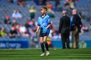 1 September 2019; Pearse McDonald, St. Teresa's PS, Loughmacrory, Omagh, Tyrone, representing Dublin, during the INTO Cumann na mBunscol GAA Respect Exhibition Go Games at the GAA Football All-Ireland Senior Championship Final match between Dublin and Kerry at Croke Park in Dublin. Photo by Piaras Ó Mídheach/Sportsfile