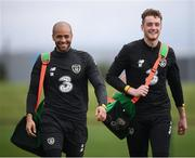 3 September 2019; Darren Randolph, left, and Mark Travers during a Republic of Ireland training session at the FAI National Training Centre in Abbotstown, Dublin. Photo by Stephen McCarthy/Sportsfile